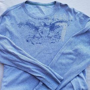 American eagle long sleeve shirt grey size XL